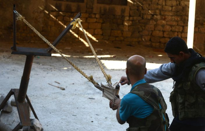 Самодельное оружие сирийских повстанцев