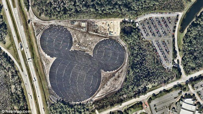 Солнечная электростанция в форме Микки Мауса