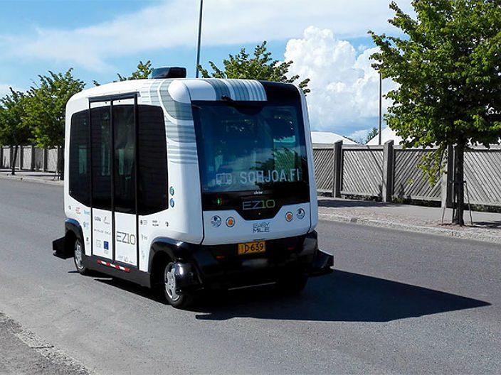 Беспилотный автобус в Финляндии