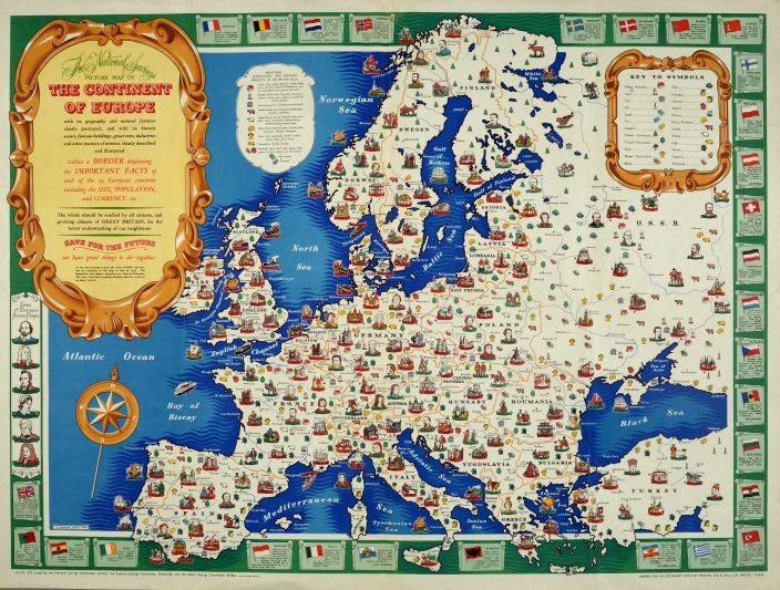 Карта Европы 1946 года