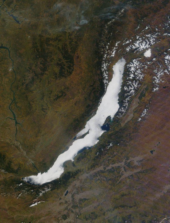 Спутниковые снимки Байкала