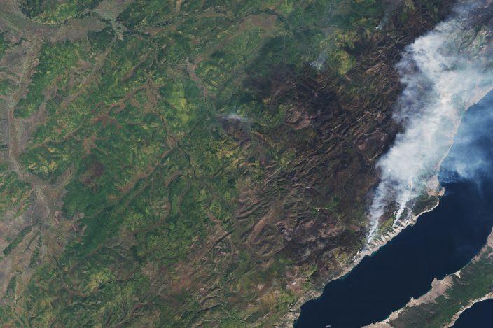Лесные пожары на Байкале