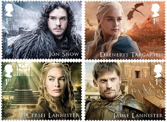 Старки и Ланнистеры стали героями британских почтовых марок
